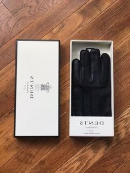 Dents Women, Luxury Leather Gloves, Black, Side Vents, Lined