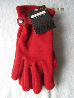 Women's Accessories Clothing size Large Red Fleece Gloves Su