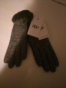 Women's Accessories Ugg Grey W Fabric Leather Shorty Gloves