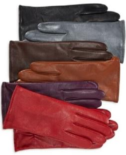 Charter Club - Women's Cashmere Lined Leather Tech Palm Glov