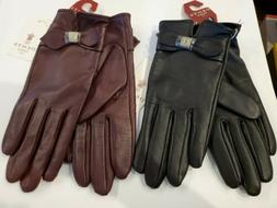 Dents Women's Claret 7-5015 Leather Gloves Large NWT $125