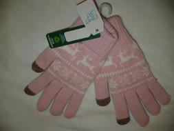 Time And Tru Women's Deer Fair Isle Touch Gloves Thick & War