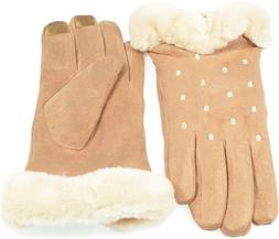 women s faux suede i touch gloves
