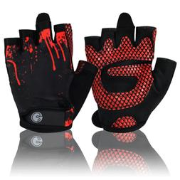 Women's Fitness Gloves Black/Red by Gym Girl