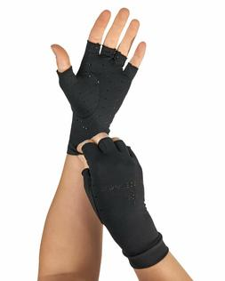 Tommie Copper Womens Half Finger Support Compression Gloves