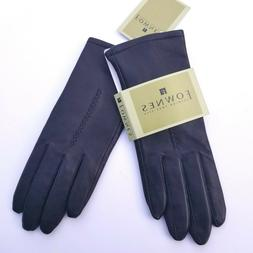 FOWNES Women's Leather Gloves Size  7 Black Fashionable Styl
