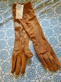 Women's Long Leather Gloves - A New Day light brown NWT