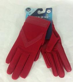 Isotoner Women's Smartouch Gloves Red  One Size CELL TOUCH S