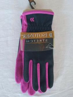 Isotoner Women's Stretch Gloves. Berry. One size NWT