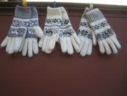 Women's winter gloves goat down homemade knitted Russian ang
