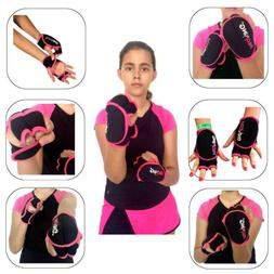 PILOXING Women Weighted Gloves Pink & Black 1/2 Lb Each - Wo