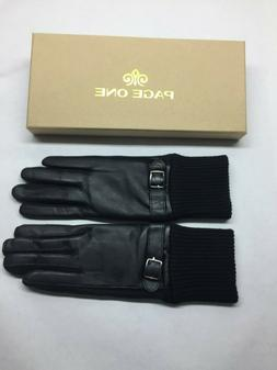 Page One Women's Genuine Leather Fashion Gloves Size Small
