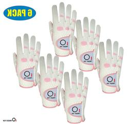 Womens Golf Gloves Med 6 Pack RelaxGrip Weather Ladies Left