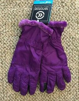 Womens Isotoner Signature Smartouch Gloves Purple Size Small