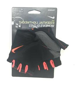 """Nike Womens Training Gloves M 7.5-8"""" Fitness Gym Weight Lift"""