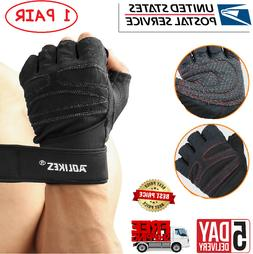 Workout Gloves Weight Lifting Fingerless Training Crossfit,C
