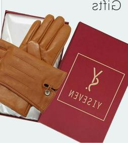 Yiseven Womens Winter Leather Touchscreen Leather Gloves Fle